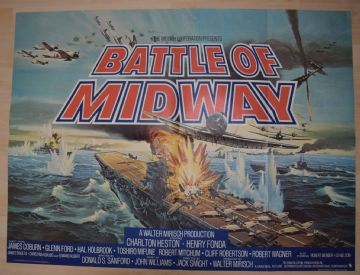 Battle of Midway (1976) - Charlton Heston | UK Quad Poster